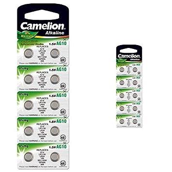 Heimwerker Camelion Ag5 Knopfzelle Uhrenbatterie Alkaline Camelion 9 Blister