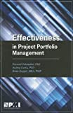 Effectiveness in Project Portfolio Management, Peerasit Patanakul and Audrey Curtis, 1935589865