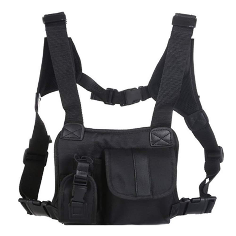 Universal Hands Free Chest Pocket Harness Bag Molle Vest Rig Holster Survival Gear for Men ZSBX08 Heavy Duty Radio Chest Rig