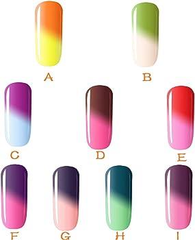 Rcool Esmalte de uñas Esmaltes esmaltes de uñas permanentes esmaltes de uñas normales esmaltes de uñas opi,1 Unid. 3 En 1 Pluma. Un paso Clave para usar Gel de cambio de temperatura