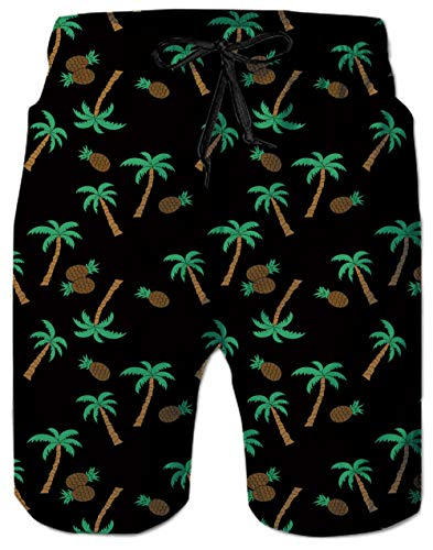 - Mens' Funny Swim Trunks Green Woodpecker on a Branch Beach Surfing Shorts Green Bamboo Swimwear Sports Competitive Middle Length Board Shorts with Mesh Lining Side Pockets Large