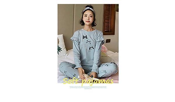 a97a6db4b4 Amazon.com  MH-RITA Jrmissli Autumn Winter 100% Cotton Character Pyjamas  Women Carton Cute Pijama Pajamas Set Pijamas Mujer Sleepwear M5572