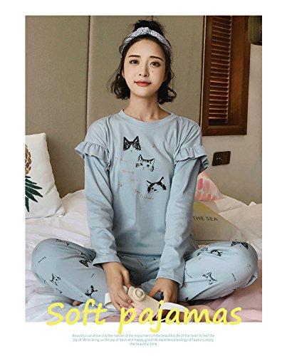 MH-RITA Otoño Invierno Jrmissli carácter 100% Algodón Pijama Mujer cartón lindo Pijama Pijama