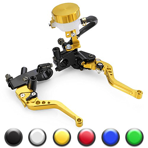 Universal Motorcycle 7/8'' 22mm Standard Handle Bar Adjustment Front Brake Master Cylinder Clutch Lever For Sport Bike/Street Bike/Scooter/Dirt Bike(Gold) by How Do You Do