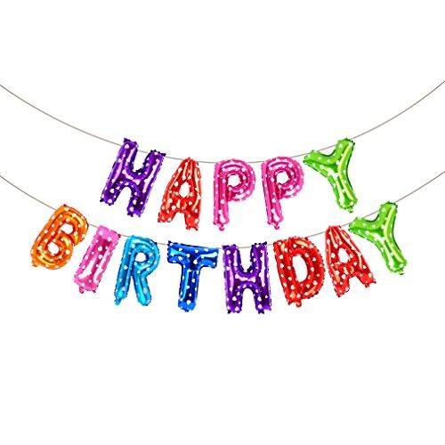 Happy Birthday Balloons, Vocktops Cute Foil Banner 13