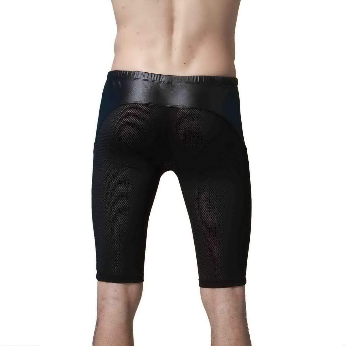 Mongous Mens Tight Yoga Drawstring Mesh Training Bodybuilding Gym Workout Shorts Pnats