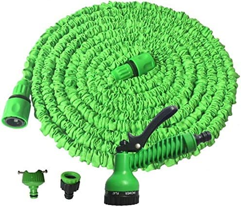 Marbeine - Manguera de riego Flexible Extensible con 7 Funciones, Pistola retráctil para jardín: Amazon.es: Jardín