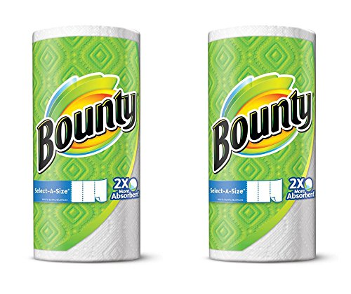 Price comparison product image Bounty Select-A-Size, 2 x More Absorbent Paper Towels Roll, 11 x 5.9-Inches, White (242 Sheets)