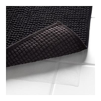 "Klickpick Designs Thick Plush Bath Mats Soft Bath Mat Chenille Washable Bath Rugs Microfiber Shaggy Non Slip Bathroom Rug Anti Slip Absorbent Bath Rug Carpet with Non Skid Backing (16"" x 24"", Black) -  - bathroom-linens, bathroom, bath-mats - 5144SgoXjQL. SS400  -"