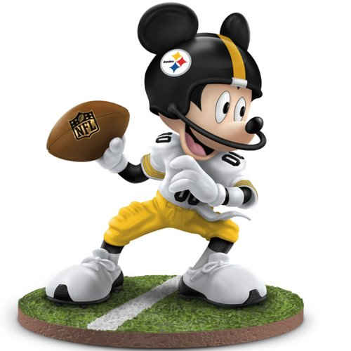 Pittsburgh Steelers Logo Figurine (NFL Pittsburgh Steelers Disney Mickey Mouse Figurine: Quarterback Hero by The Hamilton Collection)