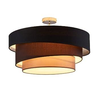 Wunderbar Deckenleuchte Runde Deckenlampe Decken Beleuchtung Leuchte Wohnzimmer  Schlafzimmer Esszimmer Küche Flur Licht Deckenbeleuchtung Stoff Metall Lampe