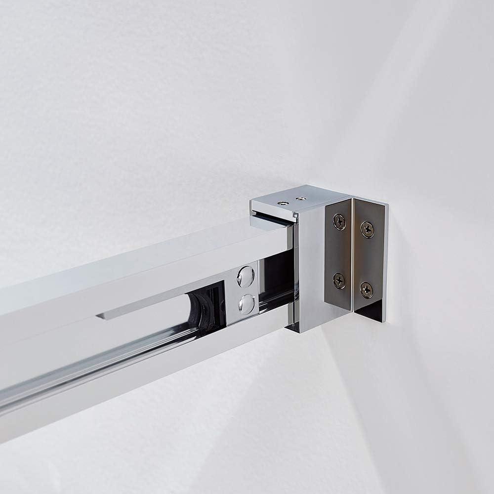 Mampara de ducha Basic de fijo y corredera - Anti cal de serie: Amazon.es: Bricolaje y herramientas