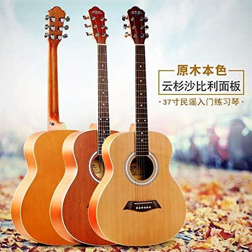 SUNXK Los nuevos Guitarra acústica de Mini Estudiantes de 37 Pulgadas universales Guitarra Plectro jita (Color : Sapele, Size : 37 Inches): Amazon.es: Hogar