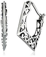 Sterling Silver Bali-Inspired Filigree Hoop Earrings by Park & Luxe
