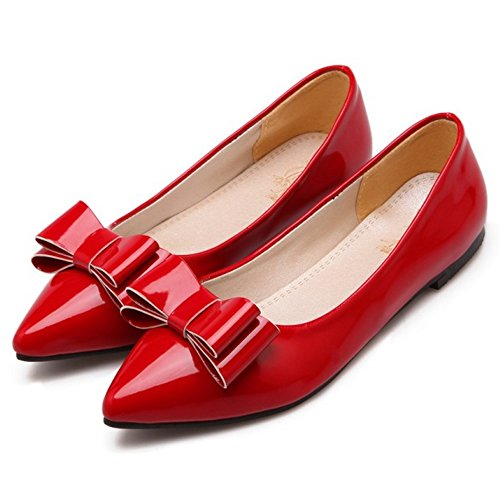 Flat Shoes Comfort Pumps CarziCuzin Red Women wR5In0qE
