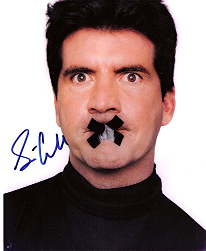 """SIMON COWELL Former """"AMERICAN IDOL"""" Judge Signed 8x10 Color Photo"""
