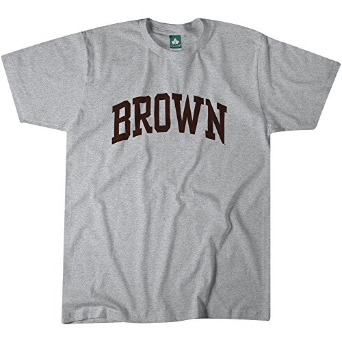 Brown University T-Shirt By Ivysport - Classic Logo, 100% Cotton, Heather Grey, T-Shirt, X-Large