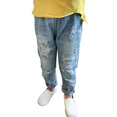 Daytwork Stretch Ripped Jeans Pantalones Niñas - Niños Niña ...