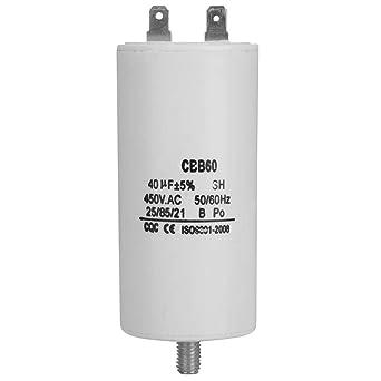 Condensador del motor YWBL-WH CBB60, condensador de la bomba de ...