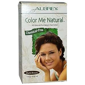 Aubrey Organics, Color Me Natural, 100% Natural Permanent Hair Color, Dark Brown, 4 oz (115 g)