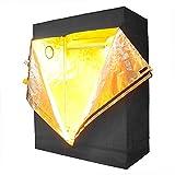 Cheap 48″x24″x60″ Reflective Mylar w/ Metal Corner Grow Tent Hydroponics Plant Room 4x2x5FT Waterproof Diamond Mylar