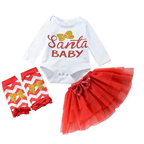 Baby Clothes Set, PPBUY Infant Gril Romper Gauze Dress Christmas Outfits Set - $75 Sunglasses 000