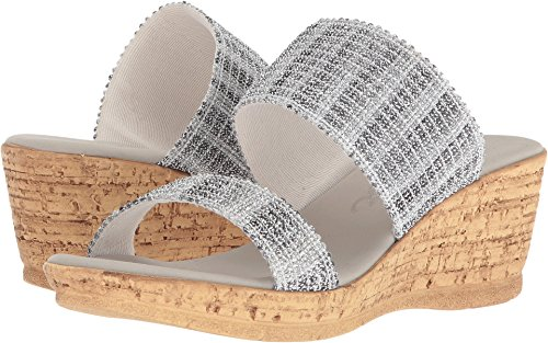 Onex Emmie Pewter/Silver Combo Womens Slide Size 9M