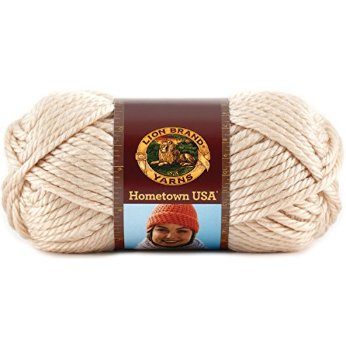 Lion Brand Yarn 135-099L Hometown USA Yarn, Los Angeles Tan