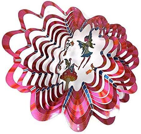 WorldaWhirl Whirligig 3D Deer Wind Spinner Hand Paint Stainless Kinetic Twister