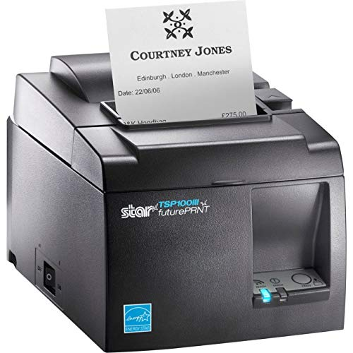 Star Micronics TSP143IIIU GRY US Direct Thermal Printer - Monochrome - Desktop - Receipt Print ()
