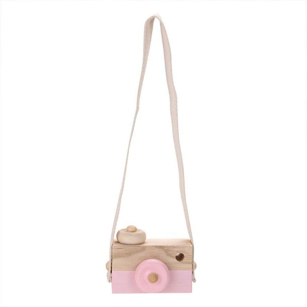Cido Wooden Camera Cam Cameras Toy Children's Travel Home Decor Gifts For Kids