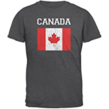 World Cup Distressed Flag Canada Dark Heather Adult T-Shirt