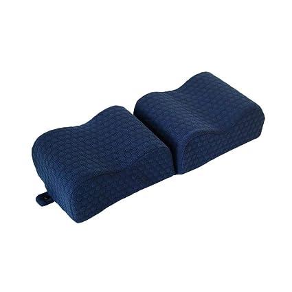 Almohada ortopédica de Espuma para la Rodilla con Funda de Limpieza Transpirable, extraíble y Lavable para el Alivio del Dolor de Cadera Embarazada