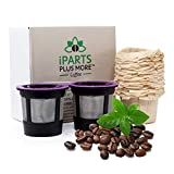 iPartsPlusMore Reusable K Cups and Filters - For Keurig 2.0...
