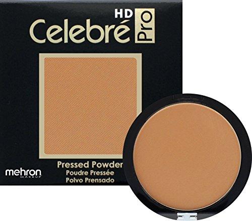 Mehron Makeup Celebre Pro-HD Pressed Powder Face & Body Makeup (.35 oz) (MEDIUM DARK (Matte Oily Skin Pressed Powder)
