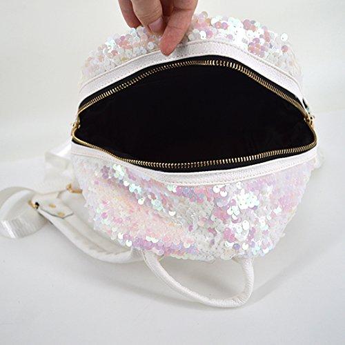 Meliya - Bolso mochila  para mujer, plata (plateado) - FS-bb-01280-02YA blanco