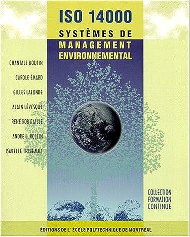 Téléchargement ISO 14000 : Systèmes de management environnemental pdf ebook
