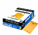 Quality Park Postage Saving Clear-Clasp Envelopes, 9 x 12 Inches, Kraft, 100 Count (43568)