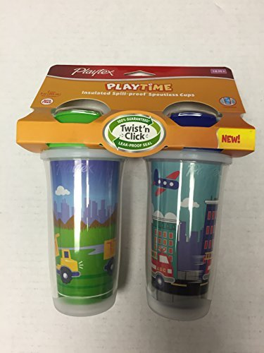 Playtex Playtime Boys Insulated Spoutless Cups, 2 Count