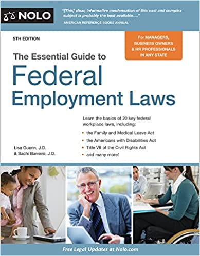 Amazon essential guide to federal employment laws ebook lisa essential guide to federal employment laws 5th edition kindle edition fandeluxe Image collections