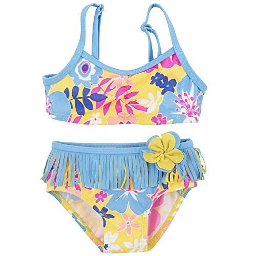 Koala Baby Girls 2 Piece Flower Print Bikini Swimsuit (9 Months)