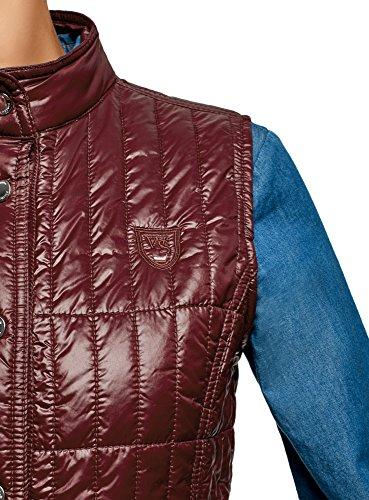 Cintrée Rouge Veste Coupe Sans Avec Manches Oodji 4901n Montant Col Femme Collection q7UZT