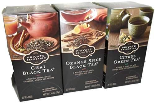 trus Green Tea, Chai Black Tea, and Orange Spice Black Tea ()