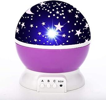 Proyector de luz LED para la noche Luz de la luna USB de la ...
