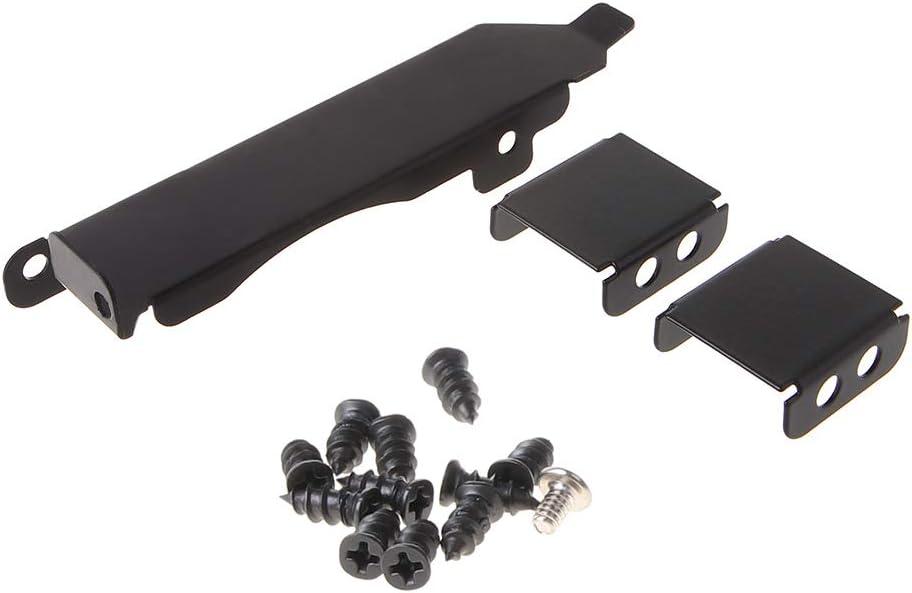 Ixkbiced Soporte de Cubierta de Ranura PCI para Rack de Ventilador Doble Tarjeta de Video de 80-90 mm Hebilla del Ventilador de enfriamiento Metal Negro