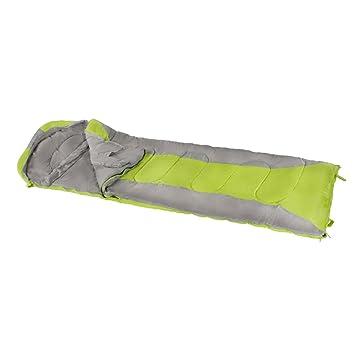 Aktive - Saco de dormir momia, 210x75 cm, 300 GSM, 0/15º C, color gris y verde (ColorBaby 85282): Amazon.es: Deportes y aire libre