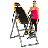 Exerpeutic 475SL Inversion Table with AIRSOFT No Pinch Ankle Holders & SURELOCK Safety