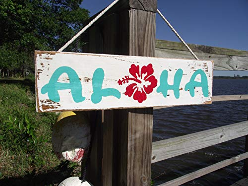 Aloha Beach Decor - Olga212Patrick Aloha Wood Pallet Wood Plaque Sign Rustic Hawaiian Aloha Wood Plaque Sign Aloha Decor Hawaii Decor Hawaiian Wall Decor Hawaiian Beach Wood Plaque Sign