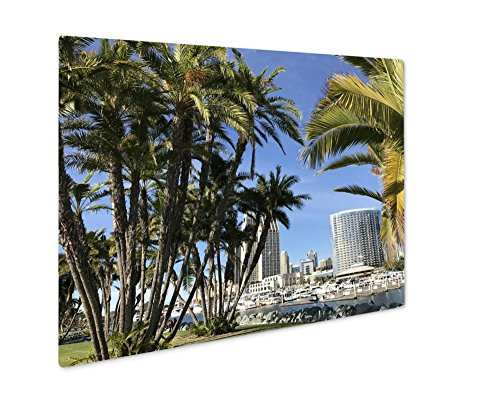 Ashley Giclee Metal Panel Print, A Gorgeous Day In Sunny San Diego California, Wall Art Decor, Floating Frame, Ready to Hang 8x10, - Stores San Diego Downtown