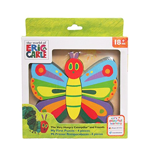 Kids Preferred Eric Carle The Very Hungry Caterpillar Wooden 4 Piece Butterfly (Eric Carle Butterfly)
